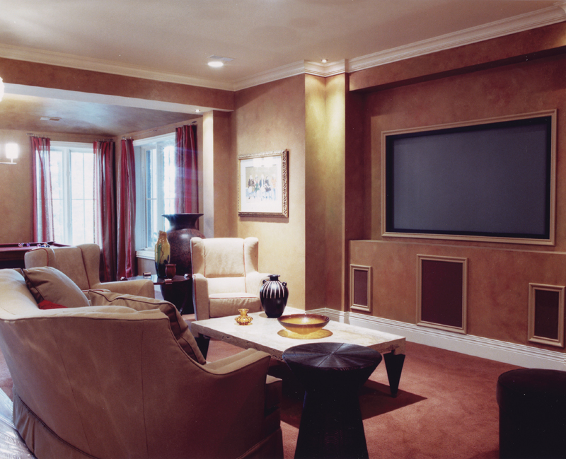 Italian House Plan Theater Room Photo 01 065D-0120