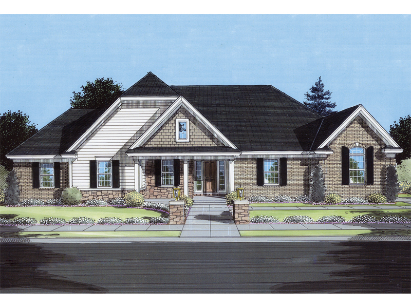 Traditional House Plan Front of Home - 065D-0138 | House Plans and More