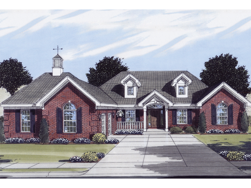 Elsa traditional ranch home plan 065d 0147 house plans for Traditional ranch home plans