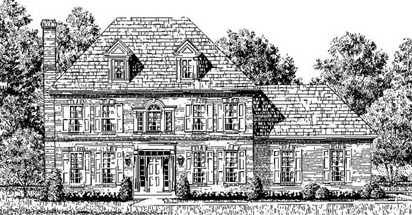 Colonial House Plan Front Photo 02 - 065D-0150 | House Plans and More