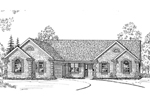 Terrific, Brick Ranch Home Plan