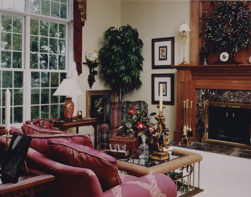 Colonial Floor Plan Fireplace Photo 01 065D-0160