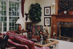 Colonial Floor Plan Fireplace Photo 01 - 065D-0160 | House Plans and More