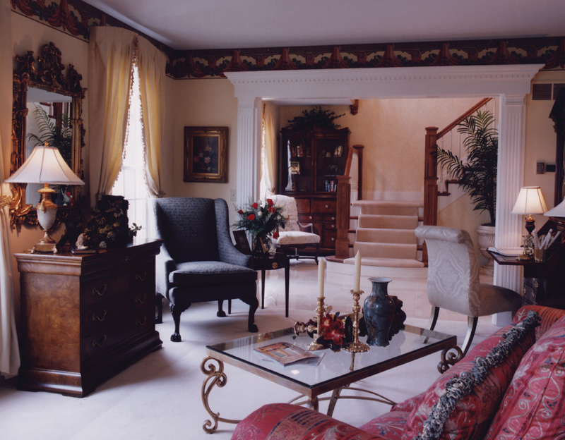 Greek Revival Home Plan Living Room Photo 01 065D-0160