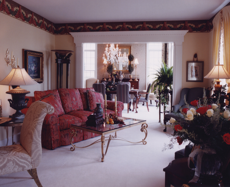 Greek Revival Home Plan Living Room Photo 02 065D-0160