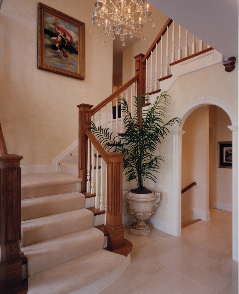 Greek Revival Home Plan Stairs Photo - 065D-0160 | House Plans and More