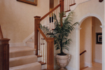 Greek Revival House Plan Stairs Photo - 065D-0160 | House Plans and More