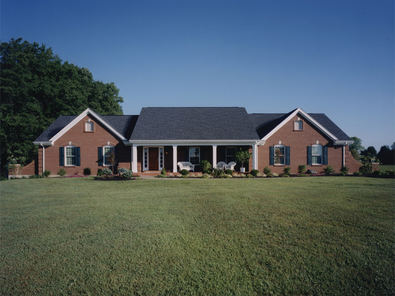 Country meadows ranch home plan 065d 0164 house plans for House plans for wide but shallow lots