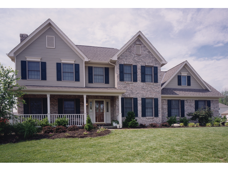 Traditional House Plan Front of Home 065D-0175