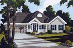 Colonial Ranch Home With Appealing Front Entry