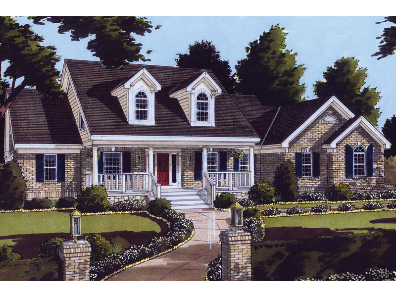 Nantucket place cape cod home plan 065d 0186 house plans for Simple cape cod house plans