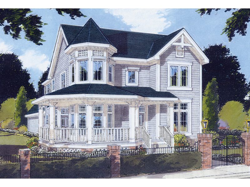 Saguenay victorian home plan 065d 0200 house plans and more for House turret designs