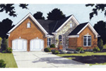 Country French House Plan Front Image - 065D-0202 | House Plans and More