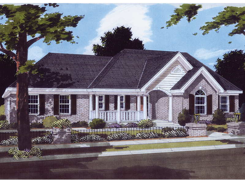 Traditional One-Story With Hip Roof