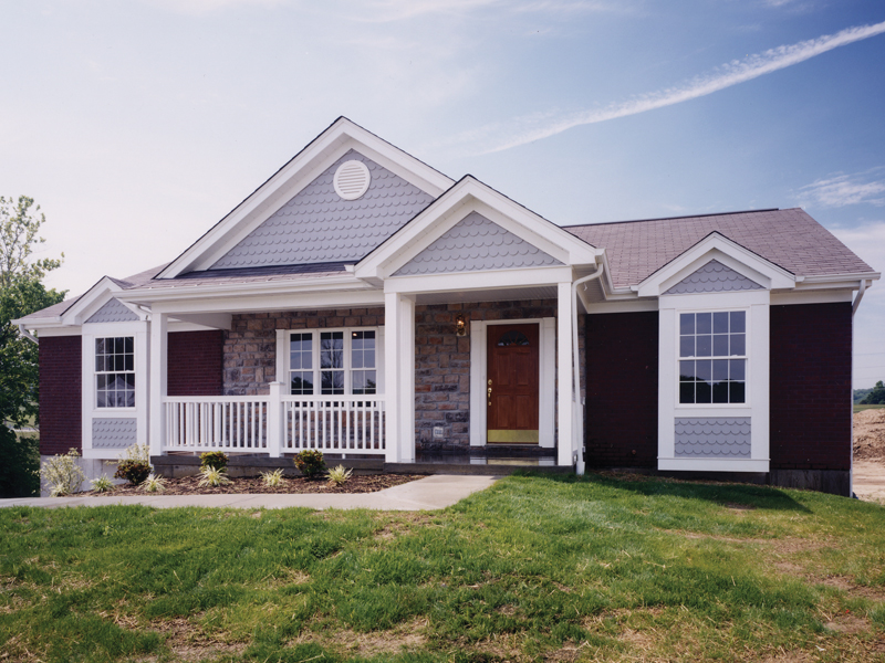 Ranch House Plan Front of Home - 065D-0212 | House Plans and More