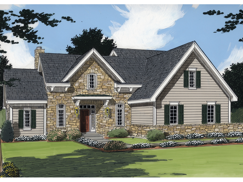 English Cottage House Plan Front of Home - 065D-0226 | House Plans and More