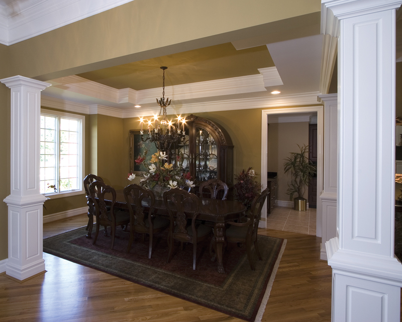 Country French Home Plan Dining Room Photo 01 065D-0250