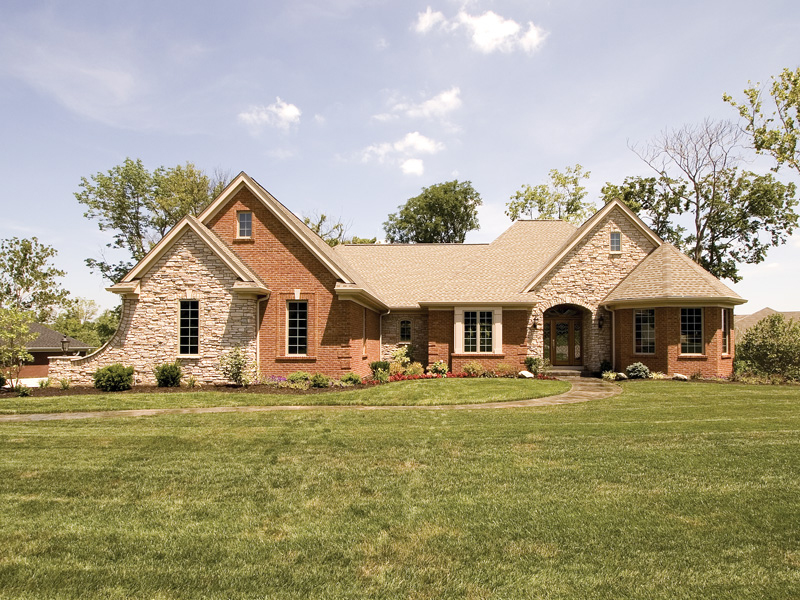 Country French Home Plan Front of Home 065D-0250