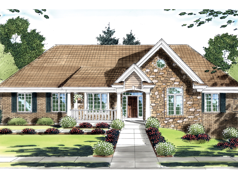 Brick Ranch Home Design