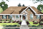 Brick Ranch Home Design