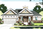 Ranch House Plan Has Pleasing Brick Facade