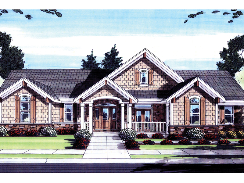 Arts & Crafts House Plan Front of Home - 065D-0265 | House Plans and More