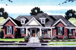 Brick Ranch Has A Substantial Front Entry