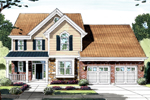 Narrow Lot Traditional Home With Stunning Brick Siding