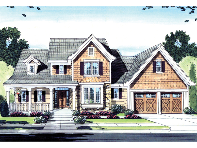 Arts & Crafts House Plan Front of Home - 065D-0274 | House Plans and More