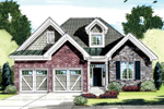 Narrow Lot Arts & Crafts Home With Stone, Brick And Shingle Siding