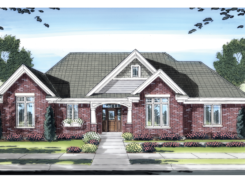 Traditional House Plan Front of Home - 065D-0280 | House Plans and More