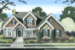 Country French Home With Brick, Stone And Shingle Siding