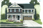 High-Styled Traditional Home Designed For A Narrow Lot