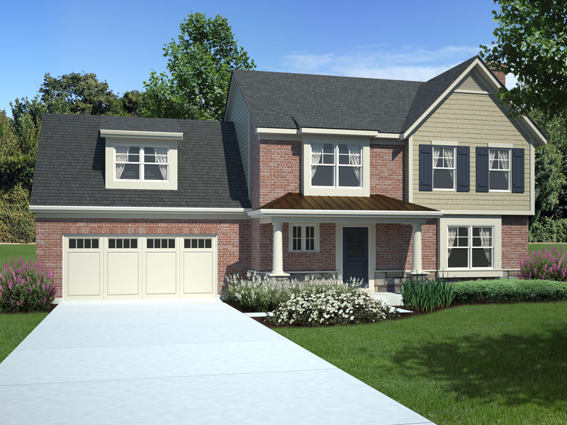 Traditional House Plan Front of Home 065D-0303