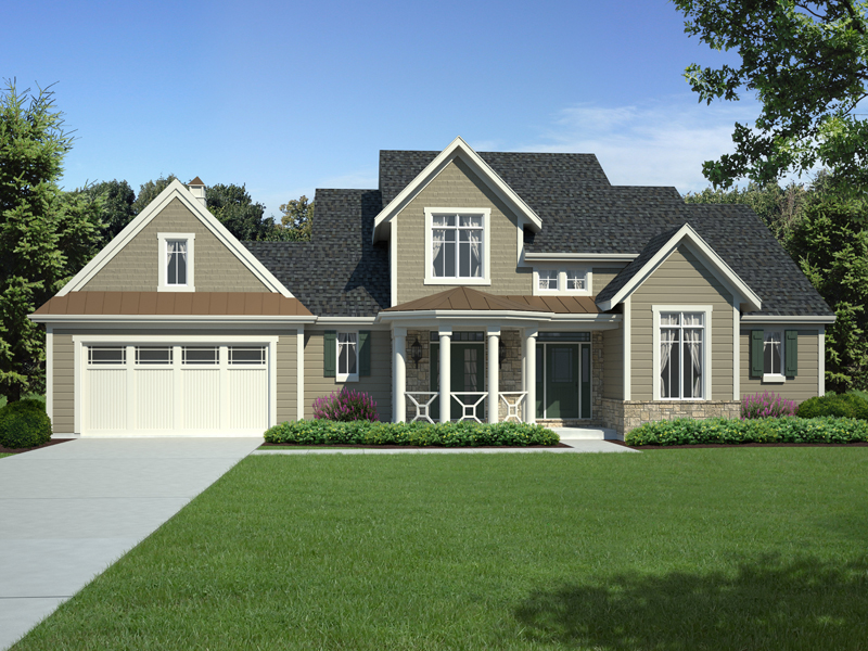 Craftsman House Plan Front Image - 065D-0306 | House Plans and More