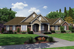 Ranch House Plan Front of Home - 065D-0307 | House Plans and More