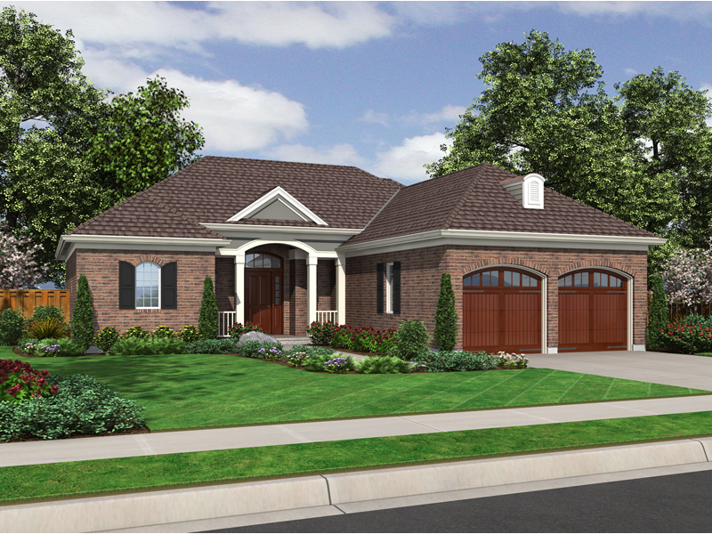 Ranch House Plan Front of Home - 065D-0309 | House Plans and More