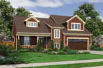 Rustic Home Plan Front of Home - 065D-0310 | House Plans and More
