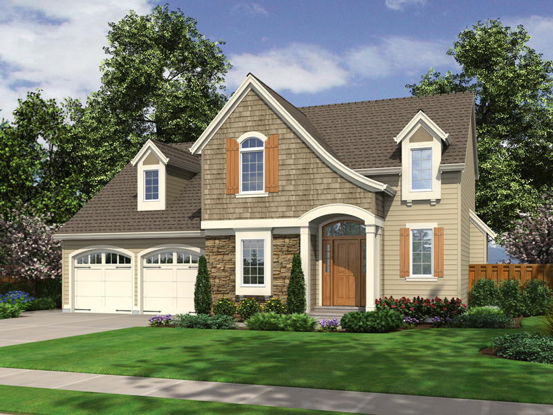 Cape Cod and New England Plan Front of Home - 065D-0311 | House Plans and More
