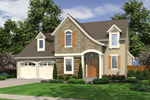 English Cottage Plan Front of Home - 065D-0311 | House Plans and More