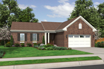 Ranch House Plan Front of Home - 065D-0312 | House Plans and More
