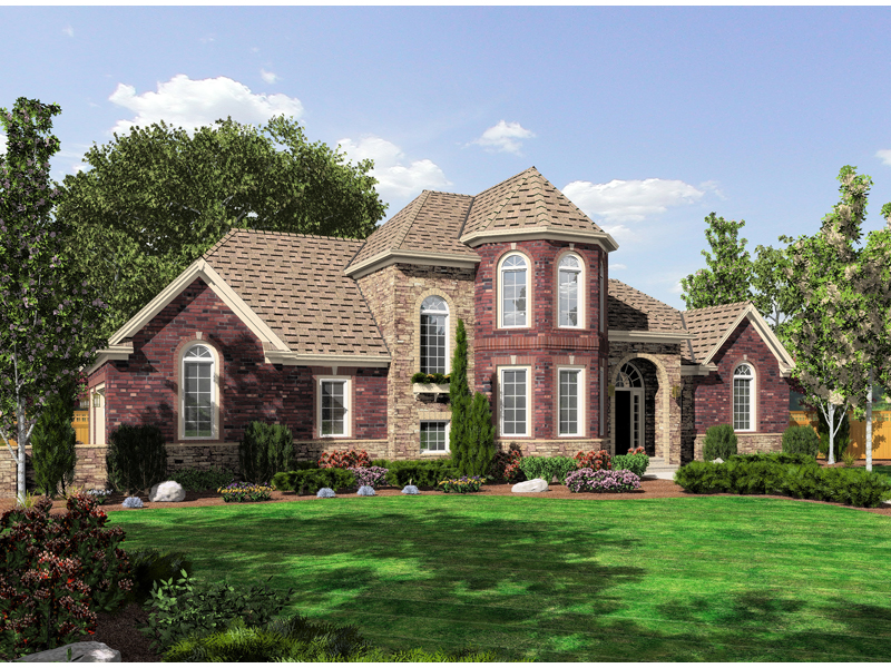 Cloverhurst european home plan 065d 0313 house plans and for European style home builders
