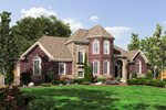 European House Plan Front of Home - 065D-0313 | House Plans and More