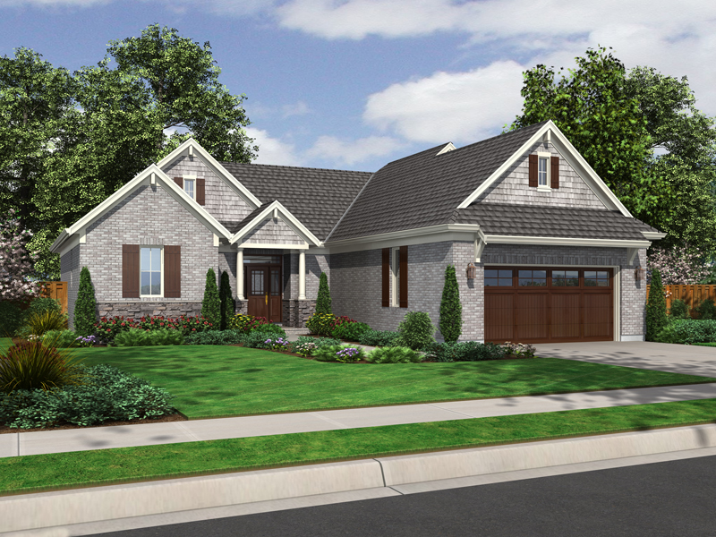 Ranch House Plan Front of Home - 065D-0314 | House Plans and More