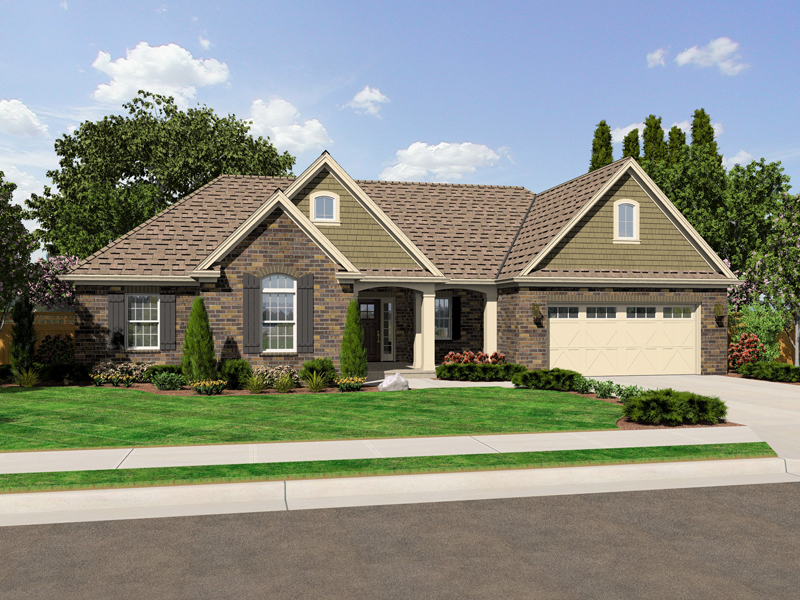 Bungalow House Plan Front of Home - 065D-0315 | House Plans and More