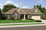 Ranch House Plan Front of Home - 065D-0315 | House Plans and More