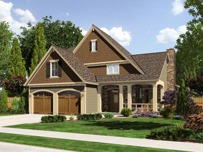 Craftsman House Plan Front of Home - 065D-0316 | House Plans and More