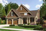 English Tudor House Plan Front of Home - 065D-0316 | House Plans and More