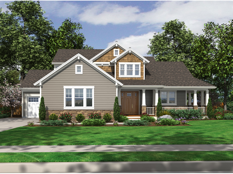 Craftsman House Plan Front of Home - 065D-0317 | House Plans and More