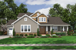 English Tudor House Plan Front of Home - 065D-0317 | House Plans and More